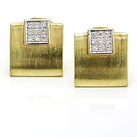 Men's Diamond Cufflinks in 14k Yellow Gold ( .40 ct tw )