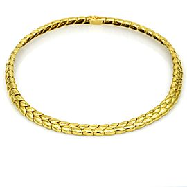 Van Cleef & Arpels Fancy Link Choker Necklace in 18k Yellow Gold