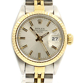 ROLEX Oyster Perpetual Lady-Datejust 26mm Watch in Gold and Steel C. 1982 Papers