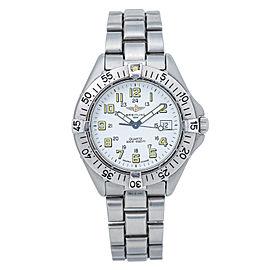 Breitling Colt Quartz A57035 White Dial Mens Date Watch 38MM