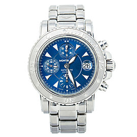 Montblanc Sport 7034 Chronograph Blue Dial SS Automatic 41MM
