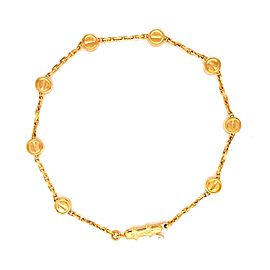 Cartier Love 18k Yellow Gold 8 Screw Motif Charms Chain Bracelet w/Cert