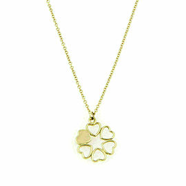 Tiffany & Co. Paloma Picasso 18k Yellow Gold Crown of Hearts Pendant