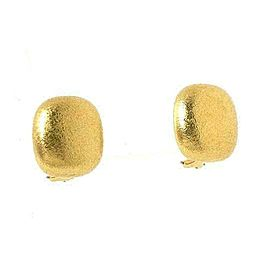 Tiffany & Co. 18k Yellow Gold Cushion Dome Shaped Stud Earrings
