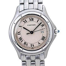 Cartier PANTHERE Cougar 987904 Stainless Swiss Quartz Watch 33mm