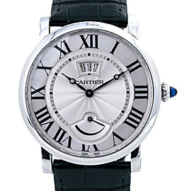 Cartier Rotonde W1556369 Manual Wind Stainless Leather Men's Watch 40MM