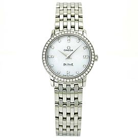 Omega DeVille Prestige Ladies Watch Diamond Dial and Bezel 413.15.27.60.55.001