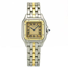Cartier Panthere Two Tone 1-Row Gold Bracelet Women's Watch