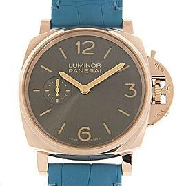 Panerai Luminor PAM00677 NEW Grey Dial 18k Rose Gold Unisex Watch 42mm Box&Paper