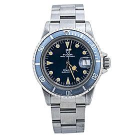 Tudor Submariner Lollipop 76100 Blue Dial Vintage Automatic Mens Watch 40MM