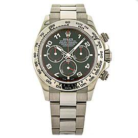 Rolex Daytona Chronograph Black Dial Watch in 18k White Gold 116509