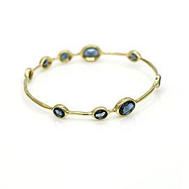 Ippolita Lodon Blue Topaz Rock Candy Bangle Bracelet in 18k Yellow Gold
