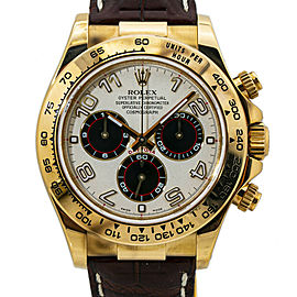 Rolex Daytona 116518 18k Gold Panda Dial Automatic Watch with Papers 40MM