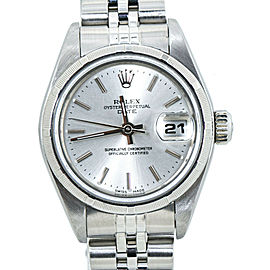 Rolex Date 69190 Silver Dial Jubilee Stainless Automatic Womens watch 26MM