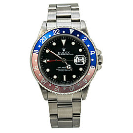 Rolex GMT Master II 16710 Pepsi Stainless P Serial Automatic Mens Watch 40MM
