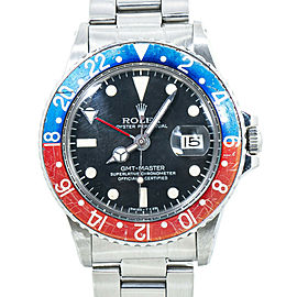 Rolex GMT Master 1675 Mark V Vintage Pepsi Automatic Mens Watch 40MM