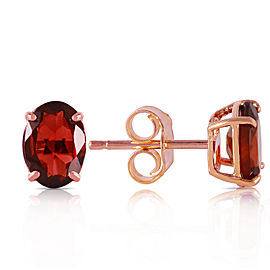 1.8 CTW 14K Solid Rose Gold Panache Garnet Stud Earrings