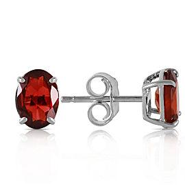 1.8 CTW 14K Solid White Gold Make Believe Garnet Earrings