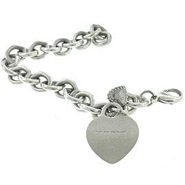 Judith Ripka Sterling Silver Chain Heart Bracelet