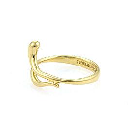 Tiffany & Co. Peretti 18k Yellow Gold Snake Ring