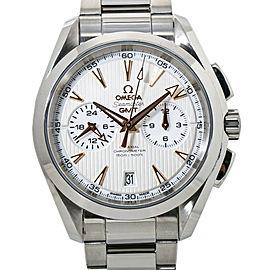 Omega Seamaster Aqua Terra 231.10.43.52.02.001 GMT Chronograph Mens Watch 43mm