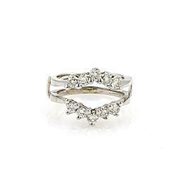 Diamond Insert 14k White Gold Ring