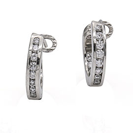 Tiffany & Co. Inside Out Diamond Hoop Earrings in Platinum ( .50 ct tw )
