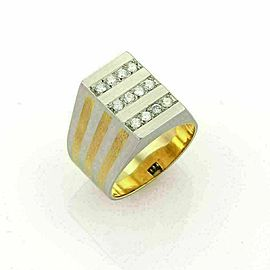 H. Stern Diamonds Platinum & 18k Yellow Gold Rectangular Ring