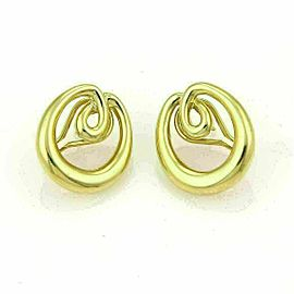 Tiffany & Co. Double Loop Open Oval 18k Yellow Gold Earrings