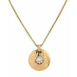 Chopard Happy Diamond 18k Rose Gold 3 Floating Diamond Round Pendant