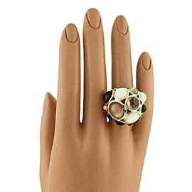 Ippolita Gellato Mother of Pearl Quartz & Onyx 18k Yellow Gold Dome Ring