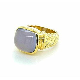 David Yurman Chalcedony 18k Yellow Gold Ring