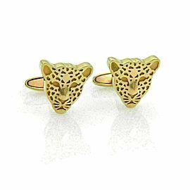 Carrera Y Carrera 18k Yellow Gold Cheetah Stud Cufflinks