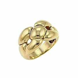 Cartier 18k Yellow Gold Wide Fancy Open Design Band Ring Size 51