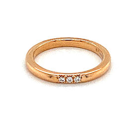 Tiffany & Co. 3 Diamond 18k Rose Gold 2mm Wide Band Ring