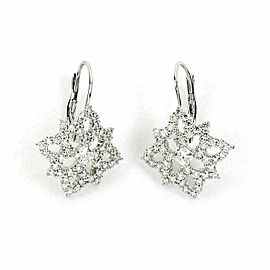 Hearts on Fire Mythical Leverback Diamond 18k White Gold Earrings Rt. $6,400