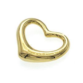 Au TIFFANY & Co. 18K Yellow Gold Elsa Peretti 27mm Open Heart Pendant