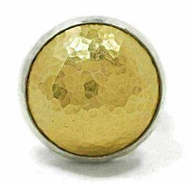 Gurhan Amulet Sterling & 24k Gold Hammered Dome Ring