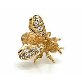 Dankner Diamond 14k Yellow Gold Bee Brooch Pin