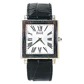 Piaget Altiplano XL Mecanique P10074 Ultra-Thin White Gold Men's Watch 33mm