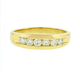 14k Yellow Gold 6 Diamond Men's Wedding band aprox.60ctw
