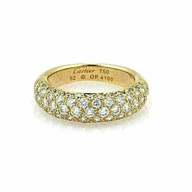 Cartier Étincelle Diamond 18k Yellow Gold Band Ring Size 52 w/Cert Rt. $9,800