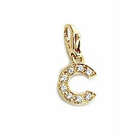 Chanel Diamond 18k Yellow Gold C Charm Pendant