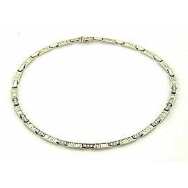 Tiffany & Co. Atlas 1.80ct Diamonds 18k White Gold Necklace