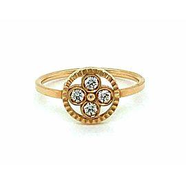 Louis Vuitton Blossom Diamond 18k Pink Gold Ring Size 53 w/Cert
