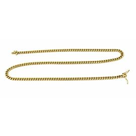 """Wide 5mm Cuban Link 14k Yellow Gold Chain Necklace 24"""" Long"""