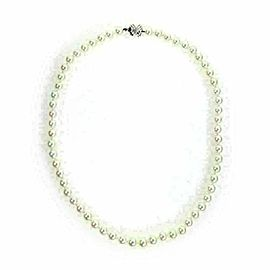 Tiffany & Co. 18k White Gold Signature X Clasp 6mm Pearl Necklace
