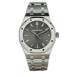 Audemars Piguet Royal Oak15500ST GreyDial SS Men's Watch 41mm with Box&Paper2020