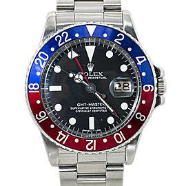 Rolex GMT Master 1675 Mark V 5 Vintage Pepsi Automatic Mens Watch 40MM