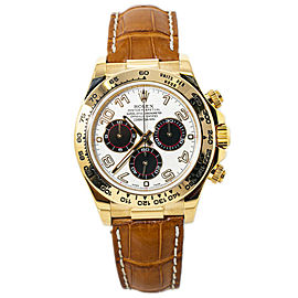 Rolex Daytona 116518 Cosmograph 18k Gold Panda Dial With Box & Papers 2015 40MM